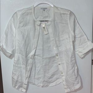 James Perse Quarter Sleeve Button down size 1
